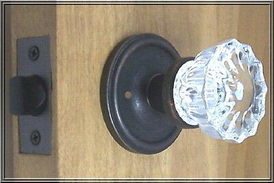 Knob Set Depression Crystal Reproduction ~our Time Tested HW~ Oil Rubbed Bronze