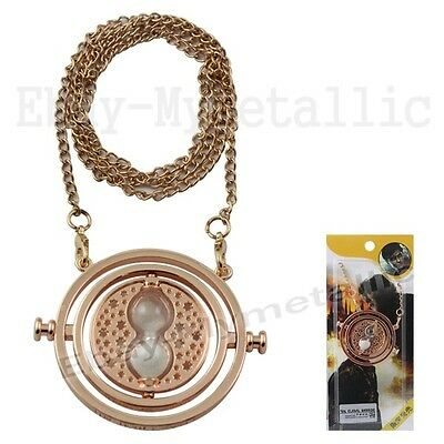 Harry Potter Hermione Granger Time-Turner Time Travel Hourglass Pendant Necklace
