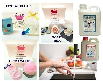 1-3kg MELT AND POUR MP SOAP BASE + FREE Book, High Quality, SLS/SLES Free Austr'