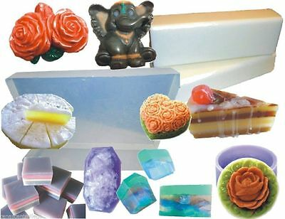 20kg ULTRA CLEAR or WHITE Melt and Pour MP Soap Base+ FREE Book, High Quality