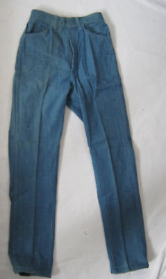 NOS VTG 60s DEADSTOCK TEEN SCRUBBED TAPERED JEANS MALE CASUALS  USA 24x28