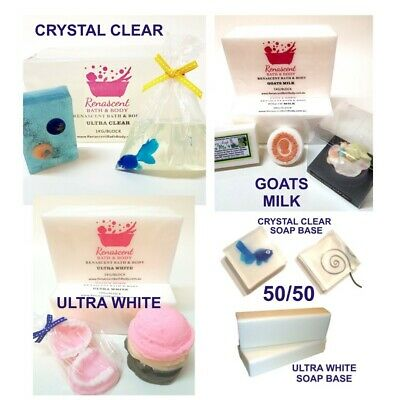3kg Sampler ULTRA CLEAR /WHITE / GOATS MILK SOAP BASE Melt and Pour MP