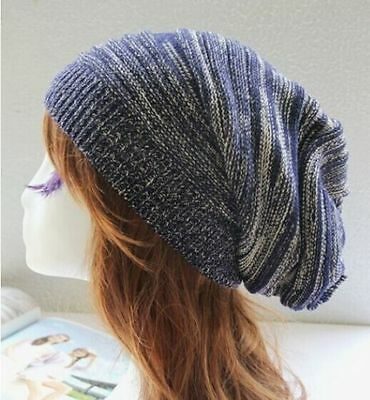 Unisex Mens Womens Knit Baggy Beanie Hat Winter Warm Oversized Ski Cap