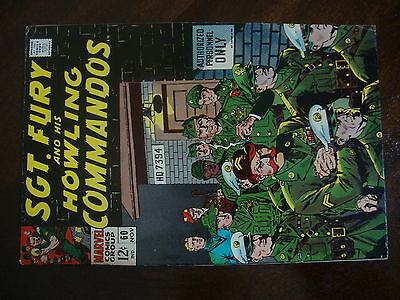 Sgt Fury #60 VG+ Auth Personnel Only