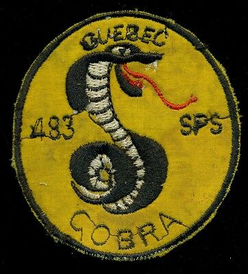 USAF 483rd Security Police Squadron Cobra Flight Cam Ranh Bay Air Base Patch D7