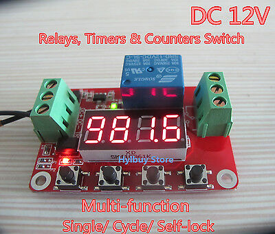DC 12V Multifunction Self-lock Cycle PLC Timer Relais Module Delay Time Switch
