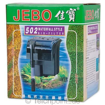 JEBO Aquarium Aussenfilter 502 Anhängefilter Hang on Filter Wasserfallfilter
