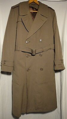 US Army M-1952 Overcoat & Removable Wool Liner Taupe Shade no 79 Size 40R