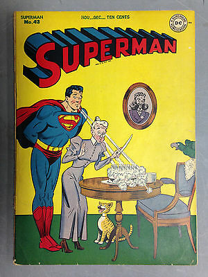 SUPERMAN (1946) 43  LOIS LANE LEX LUTHOR JERRY SEIGEL JOE SHUSTER DC COMICS