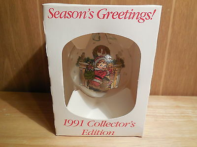 Campbell Soup Chistmas Ball Ornament- 1991 Collector's Series