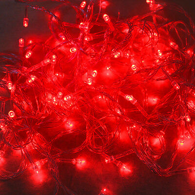 1PC Red 20M 200 LEDs String Fairy Lights For Decoration Christmas Xmas Party