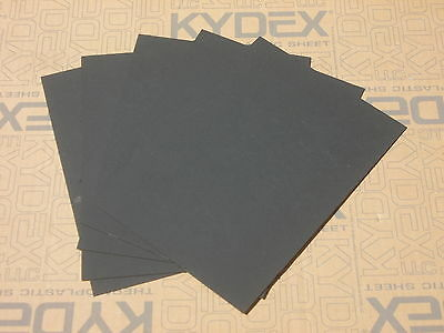 20 Pack KYDEX T SHEET 297x210x1MM P-1 HAIRCELL BLACK 52000 For Sheath Holster