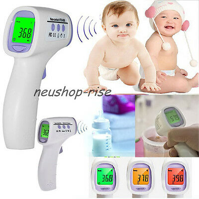 Digital LCD Infrarot Baby Thermometer Stirn Oberflaeche Temperatur 32,0 ~43,0 ℃