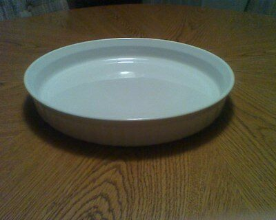 "Corning Ware Quiche Tart Pan 10"" F-3-B Excellent French White 24cm Fluted Round"