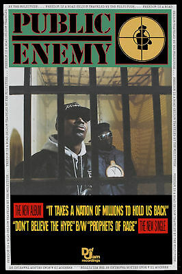 RAP: Public Enemy * It Takes a Nation of Millions to Hold Us Back * Poster 1988