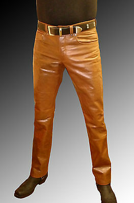 mens leather jeans brown leather pants SUEDE leather trousers Lederjeans braun