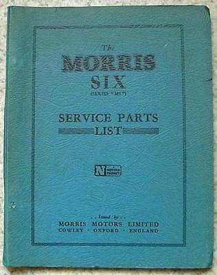 MORRIS SIX Series MS Car Illustrated Service Parts Catalogue Dec 1949