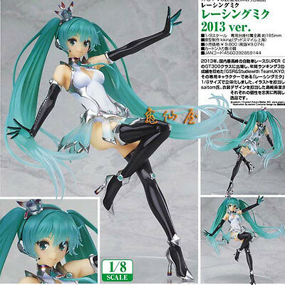 New Vocaloid Miku Hatsune Racing 2013 Ver. Figure Figurine Statue 23cm