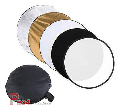 Photography 80cm 5 in 1 Collapsible Multi Light Reflector Studio Outdoor photo