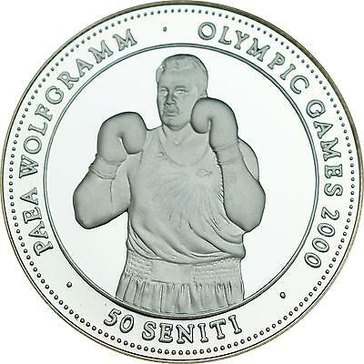 "Tonga ""Olympische Sommerspiele Sydney - Boxen"" 50 Seniti 1998 - Silber PP"
