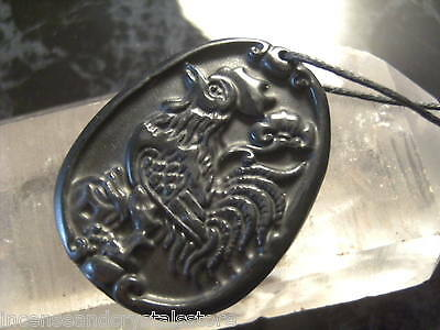 BIAN Stone 'Chi' Energy Stone Chinese Zodiac Year of the ROOSTER 45x30mm Pendant