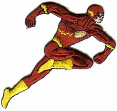 DC Comics The Flash Running Figure Embroidered Patch, NEW UNUSED
