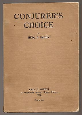 CONJURER'S CHOICE by Eric F. Impey 1930