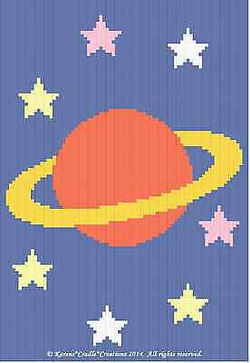 Crochet Patterns - SATURN PLANET GRAPH/CHART Baby Afghan Pattern *EASY