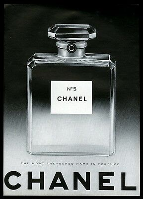 1966 Chanel No.5 perfume big classic bottle photo vintage print ad