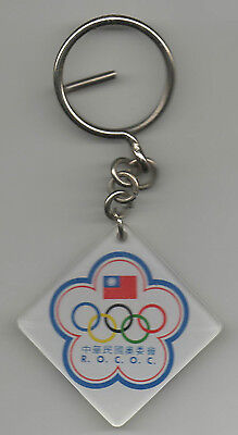 Original keyring   Taiwan Olympic Comittee - 80th Years  !!  VERY RARE