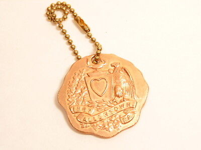 Gold colored key chain/ fob for Allentown, PA