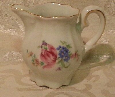 Germany U.S. Zone~ Vintage CREAMER white with floral design~ Delicate and Cute!~