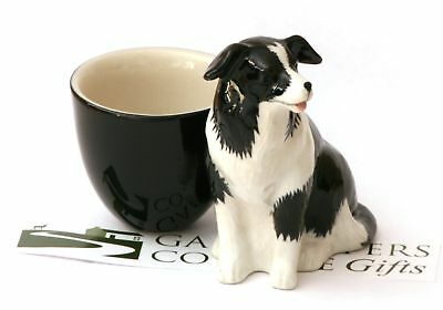 Border Collie Sheepdog Egg Cup  by Quail Pottery New