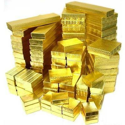 100 Assorted Gold Foil Cotton Filled Gift Boxes