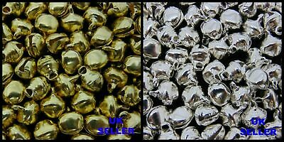 Ringing Bells 6mm Beads Charms Xmas Jewellery Costume Silver Gold Earrings ML
