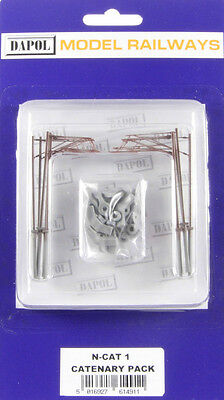 Dapol NCAT1 - Catenary Masts x 10 Pack 'N' Gauge Plastic Kit - 1st Class UK Post