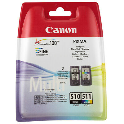Original Canon PG510 Black & CL511 Colour Ink For PIXMA MP240 MP250 MP252 MP280