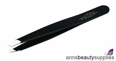 Tweezerman Full Size BLACK Slant Tweezer Professional Beauty Brows Eyebrow