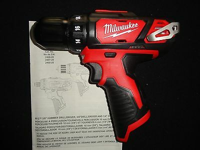 """(1) MILWAUKEE 2407-20 M12 12V 12 VOLT LITHIUM ION 3/8"""" DRILL DRIVER TOOL ONLY"""