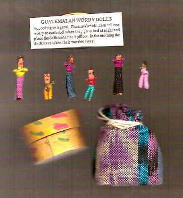 WORRY DOLLS FROM GUATEMALA  2 SETS