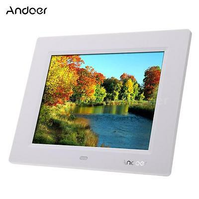 """8""""inch Ultrathin HD Digital Photo Frame Picture Alarm Clock Movie Player Remote"""