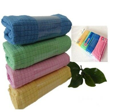 4pcs New Practical Microfiber Towel For Car Kitchen Dish Cleaning Cloth Soft