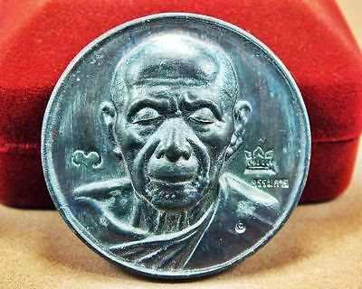 Real Antiques Magic Amulet MINI Coin LP.Tim Powerful Phra Buddha Love Attraction