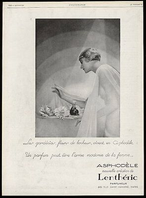 1928 Lentheric Asphodele perfume bottle photo vintage French print ad