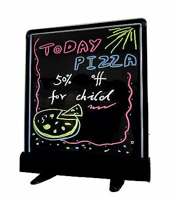 "LED Writing Menu Board 14""x12"" Fluorescent Neon Message Sign Display Frameless"