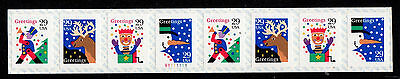 #2799 - 2802a Christmas Greetings  PNC8 Pl #V1111111 - MNH