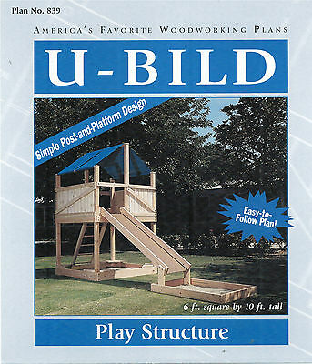 Playground Play Structure Woodworking Plans by UBild