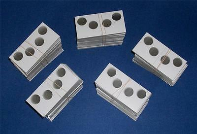 Twenty Five (25) 2 hole 2X2 Cardboard/Mylar Coin Holders Flips for Cent or Dime