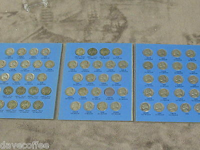 Jefferson Nickel Set-64 Dates-W/ All 11 War Nickels 1938 To 1961 D