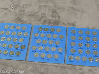 Jefferson Nickel Set-65 Dates-W/ All 11 War Nickels 1938 To 1961 D